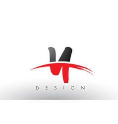 Y brush logo letters with red and black swoosh vector