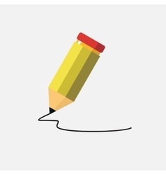 yellow pencil isolated on white vector image
