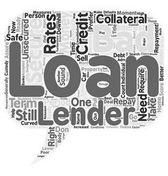 Bad Credit Score Go For Bad Credit Secured Loan vector image vector image