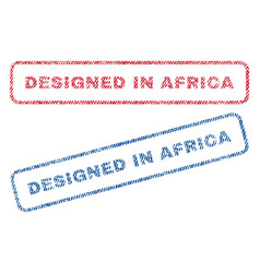 designed in africa textile stamps vector image vector image