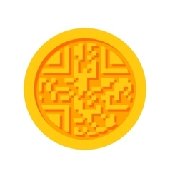 Golden Cryptocurrency Icon vector image