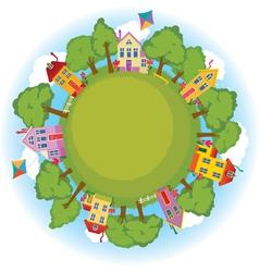 happy neighborhood vector image
