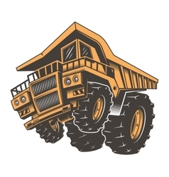 Huge aggressive construction truck vector image vector image