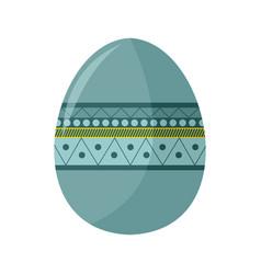 Simple bohemian pattern easter egg vector
