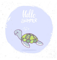 turtle summer vector image vector image