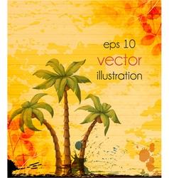 vintage summer background vector image vector image