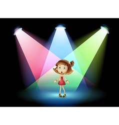 A stage with a young actress vector image vector image