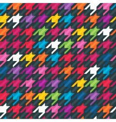 Abstract background with houndstooth print vector image