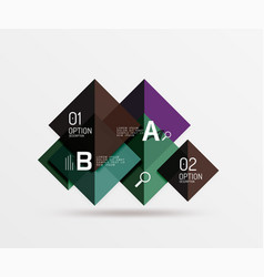 geometric abstract background with option vector image