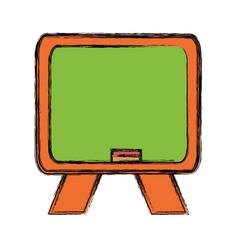 isolated blackboard cartoon vector image vector image