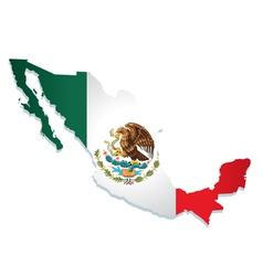 mexico flag vector image vector image