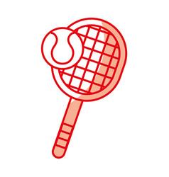 shadow tennis racket and ball cartoon vector image vector image