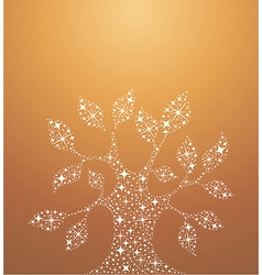Tree of life stars vector image vector image