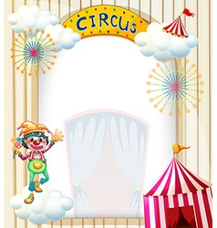 A clown in the circus vector image