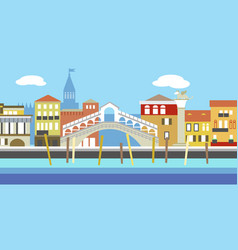 european cityscape in simple style vector image vector image
