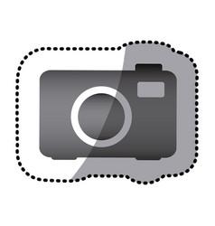 grayscale camera photo icon vector image