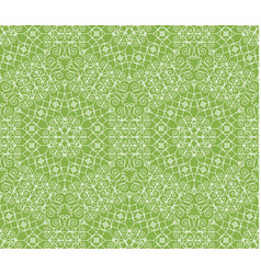 greenery geometric ornament seamless pattern vector image