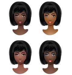 Makeup for African-American women vector image vector image