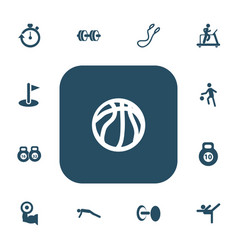 Set of 13 editable fitness icons includes symbols vector