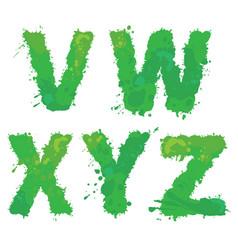 v w x y z handdrawn english alphabet - vector image