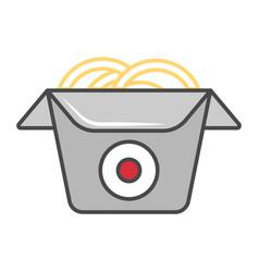 wok box isolated icon vector image