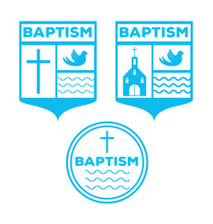 Beach baptism invitation template vector