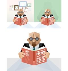 Businessman reading a book concept vector image vector image