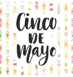 cinco de mayo mexican holiday poster vector image