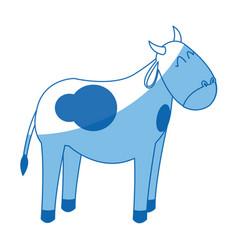 Cow manger animal character christmas vector