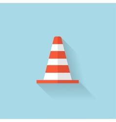 Flat web icon Traffic cone vector image