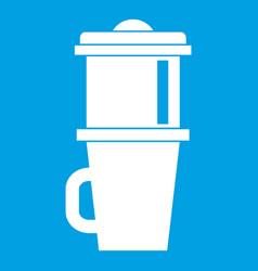 mug for coffee icon white vector image