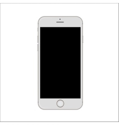 New version of white slim smartphone with blank vector image