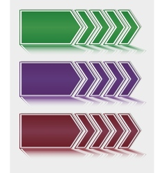 Vetor arrows download vector image