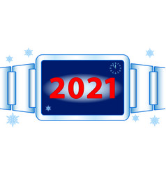Abstract 2021 watch vector