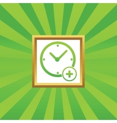 Add time picture icon vector