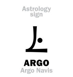 Astrology constellation argo argo navis vector