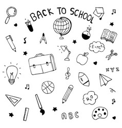 back to school hand drawn doodle vector image vector image