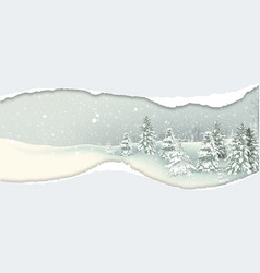 Background with winter snowy landscape vector