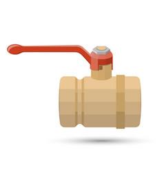 ball valve on white vector image