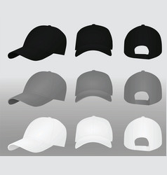 baseball caps template vector image