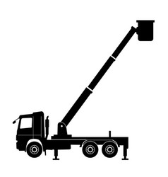 Boom lift truck vector