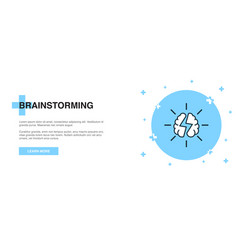 brainstorming icon banner outline template vector image