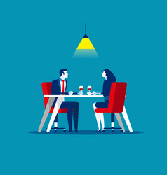 Business meeting in restaurant concept business vector