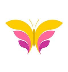Butterfly simple logo vector image