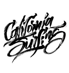 california surfing modern calligraphy hand vector image