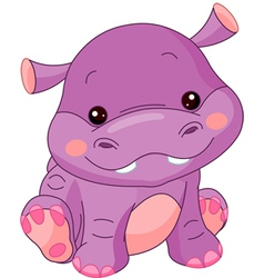 Cartoon hippo vector