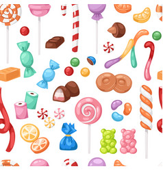Cartoon sweet bonbon sweetmeats candy kids food vector