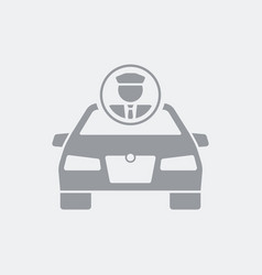 Chauffeur service flat icon vector