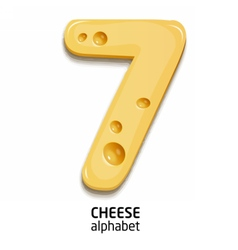 Cheese alphabet element number vector image