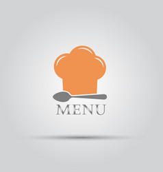 Chef hat and spoon isolated menu logo vector